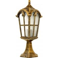 Светильник садово-парковый PL105 четырехгранный на постамент 60W 230V E27, черное золото 11297