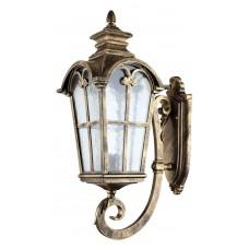 Светильник садово-парковый PL5102 четырехгранный на стену вверх 100W 230V E27. черное золото 11527