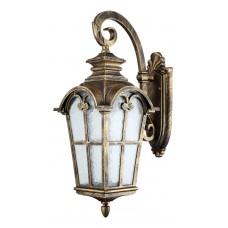 Светильник садово-парковый PL5103 четырехгранный на стену вниз 100W 230V E27, черное золото 11528