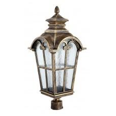 Светильник садово-парковый PL5104 четырехгранный на столб 100W 230V E27, черное золото 11529