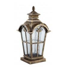 Светильник садово-парковый PL5105 четырехгранный на постамент 100W 230V E27, черное золото 11530