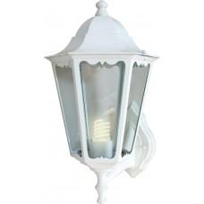 Светильник садово-парковый 6101 шестигранный на стену вверх 60W E27 230V, белый 11051