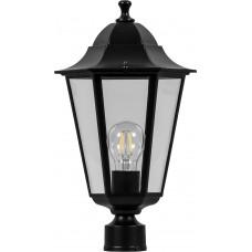 Светильник садово-парковый 6103 шестигранный на столб 60W E27 230V, черный 11056