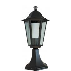 Светильник садово-парковый 6104 шестигранный на постамент 60W E27 230V, черный 11058