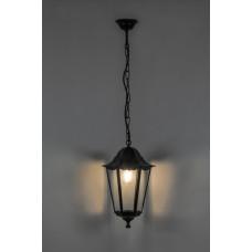 Светильник садово-парковый 6105 шестигранный на цепочке 60W E27 230V, черный 11060