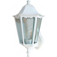 Светильник садово-парковый 6201 шестигранный на стену вверх 100W E27 230V, белый 11063