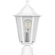 Светильник садово-парковый 6203 шестигранный на столб 100W E27 230V, белый 11067
