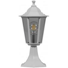 Светильник садово-парковый 6204 шестигранный на постамент 100W E27 230V, белый 11069