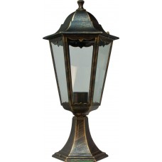Светильник садово-парковый 6204 шестигранный на постамент 100W E27 230V, черное золото 11141
