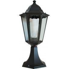 Светильник садово-парковый 6204 шестигранный на постамент 100W E27 230V, черный 11070