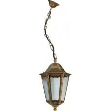 Светильник садово-парковый 6205 шестигранный на цепочке 100W E27 230V, черное золото 11143