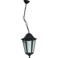 Светильник садово-парковый 6205 шестигранный на цепочке 100W E27 230V, черный 11072