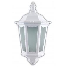Светильник садово-парковый 6206 шестигранный на стену накладной 60W E27 230V, белый 11540