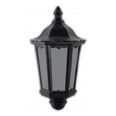 Светильник садово-парковый 6206 шестигранный на стену накладной 60W E27 230V, черный 11539