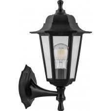 Светильник садово-парковый НБУ 06-60-001 вверх/вниз, 6-ти гранник 60W E27 230V, черный 32227