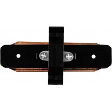 Коннектор прямой для шинопровода, черный, LD1000