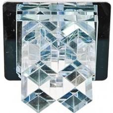 Светильник потолочный, JC G4 прозрачным стеклом, хром, с лампой, JD121-CL 19142