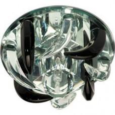 Светильник потолочный, JC G4 с черным и прозрачным стеклом, зеркальный, с лампой, CD2531 18796