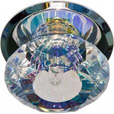 Светильник потолочный, JC G4 с многоцветным стеклом, хром, с лампой, JD83S-MC 17270