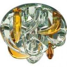 Светильник потолочный, JC G4 с желтым и прозрачным стеклом, зеркальный, с лампой, CD2531 18794