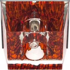 Светильник потолочный, JCD9 35W G9 прозрачный-коричневый, хром, JD59 18800