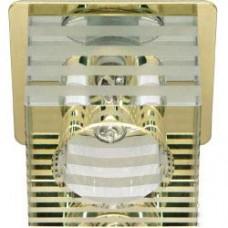 Светильник потолочный, JCD9 35W G9 с прозрачным-матовым стеклом, золото, DL-172 18876