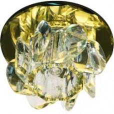 Светильник потолочный, JCD9 35W G9, желтый,хром, с лампой, 1530 28153