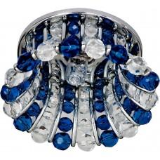 Светильник потолочный, JCD9 G9 с прозрачным и синим стеклом, хром, с лампой, CD2120 18356