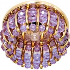 Светильник потолочный, JCD9 G9 с сиреневым стеклом, золото, с лампой, CD2119 18434