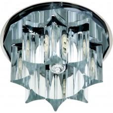 Светильник потолочный, JCD G9 с черным стеклом, хром, с лампой, CD2500 19173
