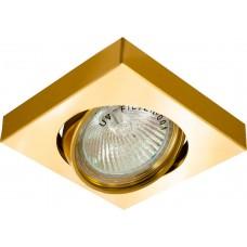 Светильник потолочный, MR16 50W G5.3 золото, DL163 17956