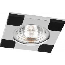 Светильник потолочный, MR16 G5.3 черный и хром, DL191 18756