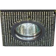 Светильник потолочный, MR16 G5.3 черный-серебро, серебро, 8119-2 28307