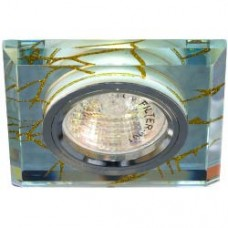 Светильник потолочный, MR16 G5.3 прозрачный-золото, серебро,8149-2 28295