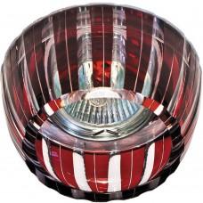 Светильник потолочный, MR16 G5.3 с красным стеклом, хром с лампой, CD2324 18724