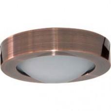 Светильник потолочный, MR16 G5.3 с матовым стеклом, медь, DL204 18617