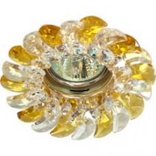 Светильник потолочный, MR16 G5.3 с прозрачным-желтым стеклом, золото, с лампой, CD2316 18664