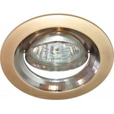 Светильник потолочный, MR16 G5.3 жемчужное золото-титан, DL2009 17829