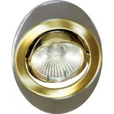 Светильник потолочный, MR16 G5.3 золото-хром, 108Т-MR16 17698