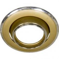 Светильник потолочный, MR16 G5.3 золото-хром, 301-MR16 17519