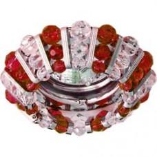 Светильник потолочный, MR16 G5.3с прозрачным и красным стеклом, хром, с лампой, CD2121 18427