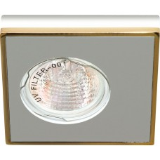 Светильник потолочный MR16 MAX50W 12V G5.3, алюминий,золото, DL 2A 28361