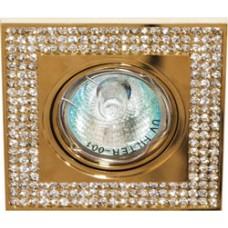 Светильник потолочный MR16 MAX50W 12V G5.3, прозрачный, золото, DL114-С 28413
