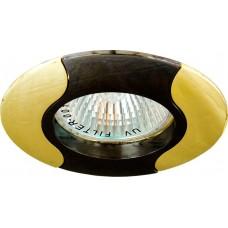 Светильник встраиваемый 020T-MR16 потолочный MR16 G5.3 черно-золотистый 17682