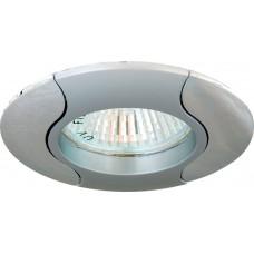 Светильник встраиваемый 020T-MR16 потолочный MR16 G5.3 серый-хром 17679