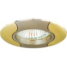 Светильник встраиваемый 020T-MR16 потолочный MR16 G5.3 титан-золото 17680