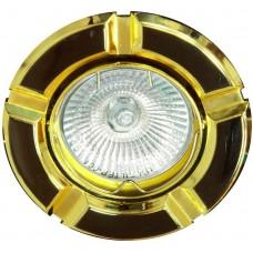Светильник встраиваемый 098T-MR16 потолочный MR16 G5.3 черный-золото 17642