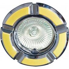 Светильник встраиваемый 098T-MR16 потолочный MR16 G5.3 золото-хром 17638