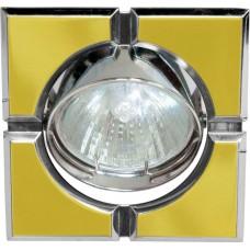 Светильник встраиваемый 098T-MR16-S потолочный MR16 G5.3 золото-хром 17658