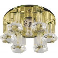 Светильник встраиваемый 1526 потолочный JCD9 G9 желтый-прозрачный 28133